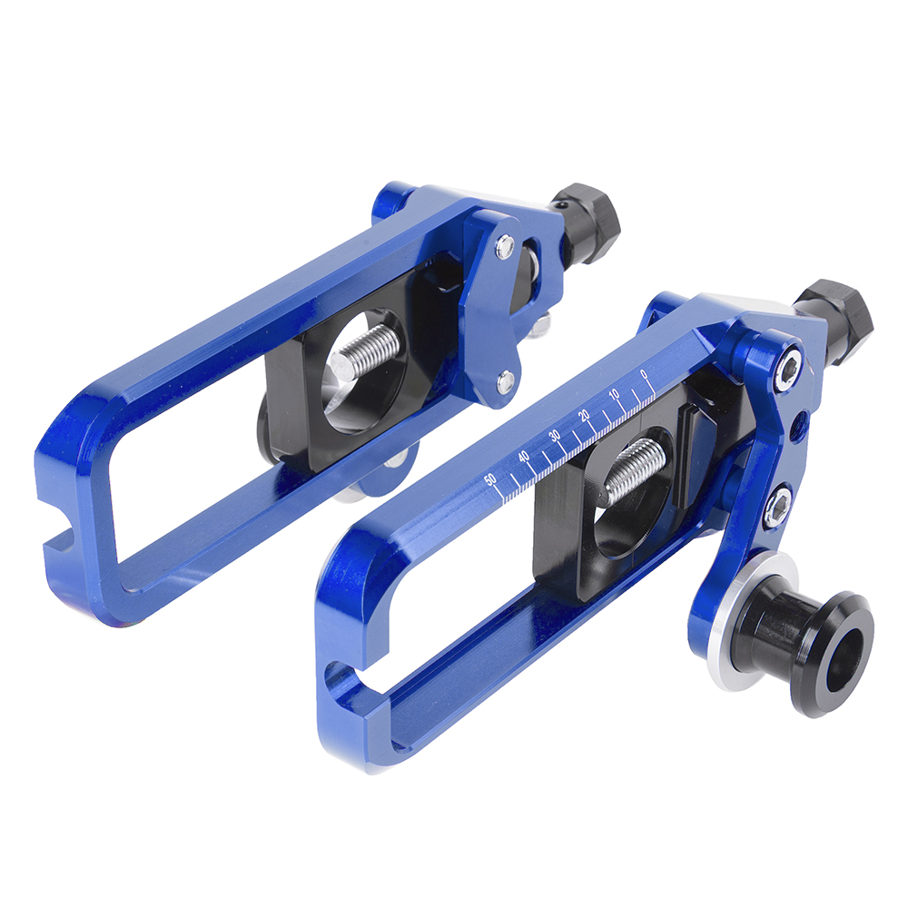 Motorcycle Parts Adjusters Chain Tensioner Catena w//Spool for Yamaha YZF R1 2004-2006 Blue