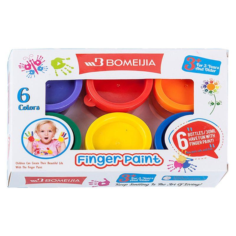 30ml 6 Vibrant Colors Washable Gouache Paint For Kids School Finger Paint Wholesale Dropshipping