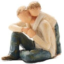 Styl skandynawski miłość rodzina figurki żywica miniaturowe akcesoria do dekoracji domu szczęśliwy czas w Figurki i miniatury od Dom i ogród na