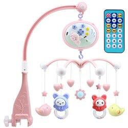 Детские игрушки на кроватку мобили погремушки музыкальные развивающие игрушки кровать колокольчик карусель для кроватки проекция младенц...