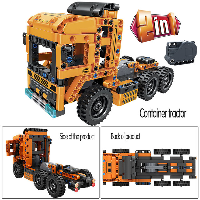 Creator City Off Road Car Model Building Blocks Technic Pull Back Loader Trucks Container Teactor Bricks Toys For Boys