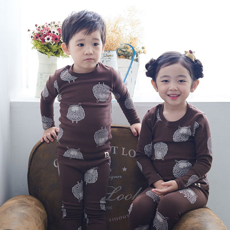 Special Offer Men And Women Children Tracksuit Autumn Thermal Underwear Suit Cotton Baby Pajamas