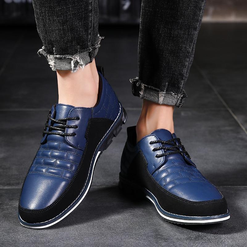 Men Shoes Leather Casual Shoes Men