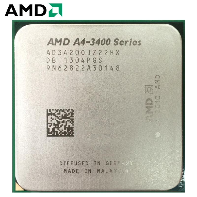 AMDAMD A4-Series A4-3420 APU A4 3420 Dual-Core Cpu 100% Working Properly Desktop Processor 65W 2.9GHz Socket FM1