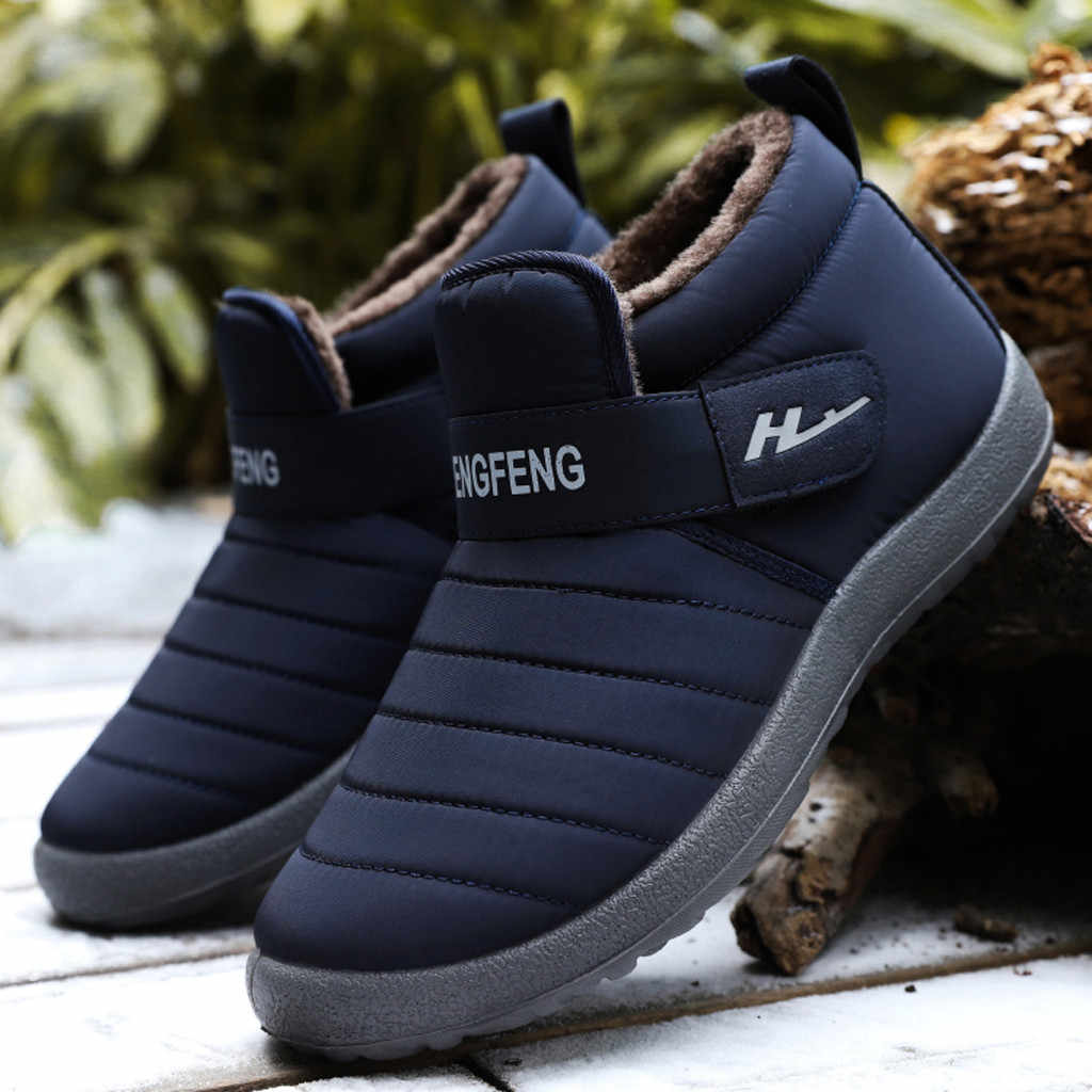 Winter Warm Plus velvet Ankle Boots For man Fashion Large Size High Quality Snow Boots men shoes Non-Slip Winter Boots Zapatos