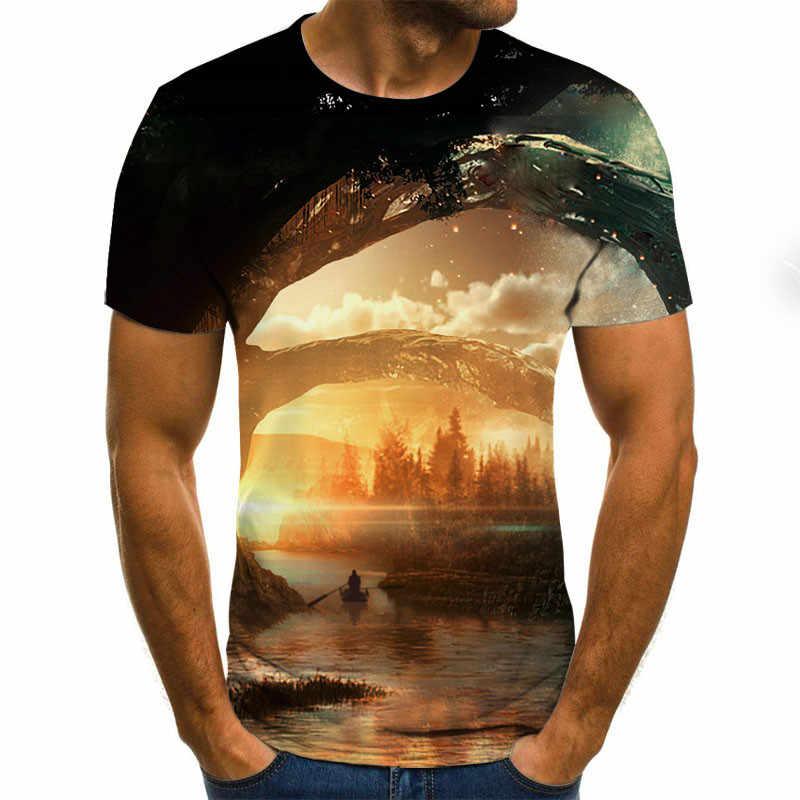 Nieuwe Sterrenhemel 3d Gedrukte T-shirt Mannen Zomer Casual Man T-shirt Tops Tees Grappige T-shirt Streetwear Man Size XXS-6XL