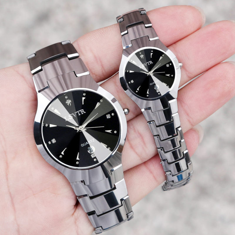 Hot Selling Couple Watch LSVTR Men Women Tungsten Steel Watch Ladies Quartz Lover Watch Gift To Husband And Wife Dropshipping