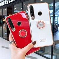 Funda con soporte de anillo para Huawei Honor 8X 9X X10 20 30 30S V30 Y6 Y7 2019 20 Pro P30 P20 P40 Lite, carcasa galvanizada