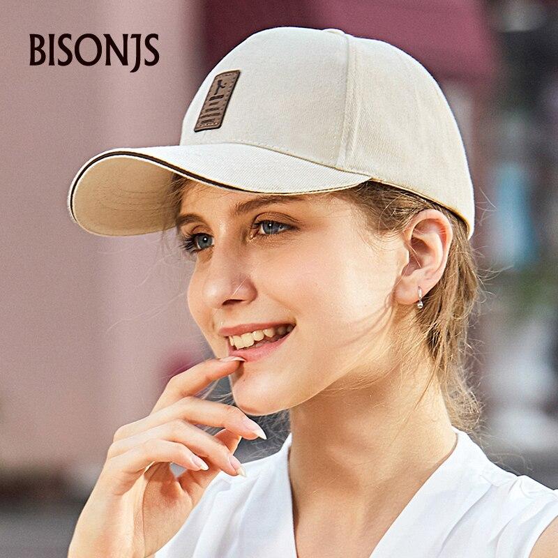 Мужская кепка для гольфа BISONJS 2020, регулируемая бейсбольная кепка, одноцветная модная бейсболка, летние Кепки из хлопка с вышитыми буквами, ж...