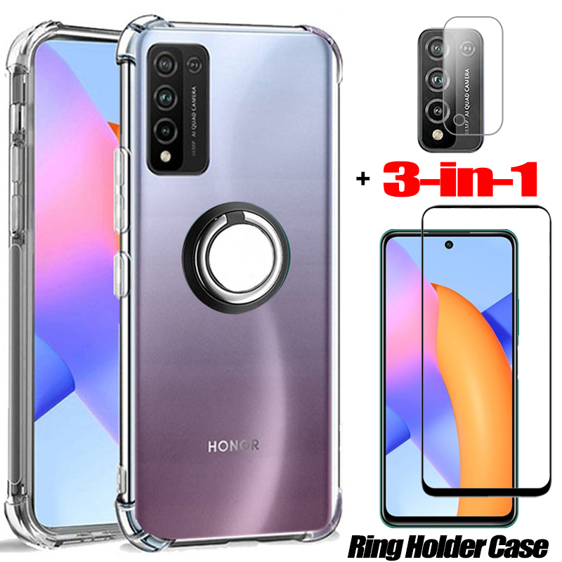 anneau coque honor 10 x lite soft clair anti-choc coques de téléphone honor10 lite huawei honor 10i verre trempé honor 10lite huawei honor 10x lite glass case honor 10 x lite etui honor 10x lite case