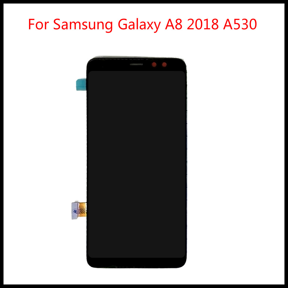 Perfect quality SUPER AMOLED LCD For <font><b>Samsung</b></font> Galaxy A8 2018 A530 <font><b>A530F</b></font> A530DS A530N SM-A530N LCD Touch <font><b>Screen</b></font> Digitizer+Tools image