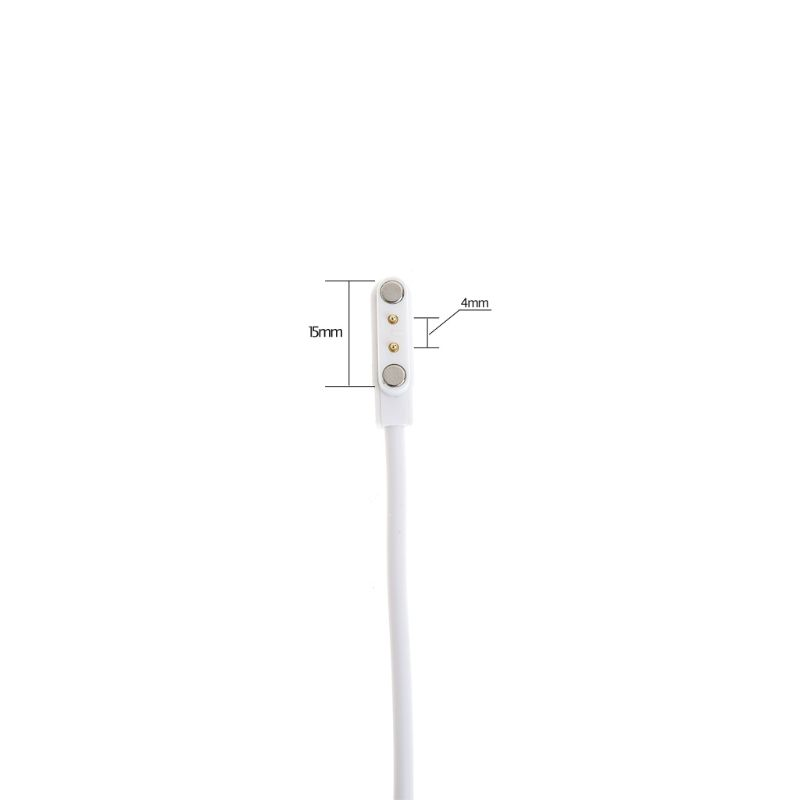 Magnetic Charge Charging Cable For Smart Watch With Magnetics Plug For 2 Pins Distances 4mm Black Novel Power Charger Cables