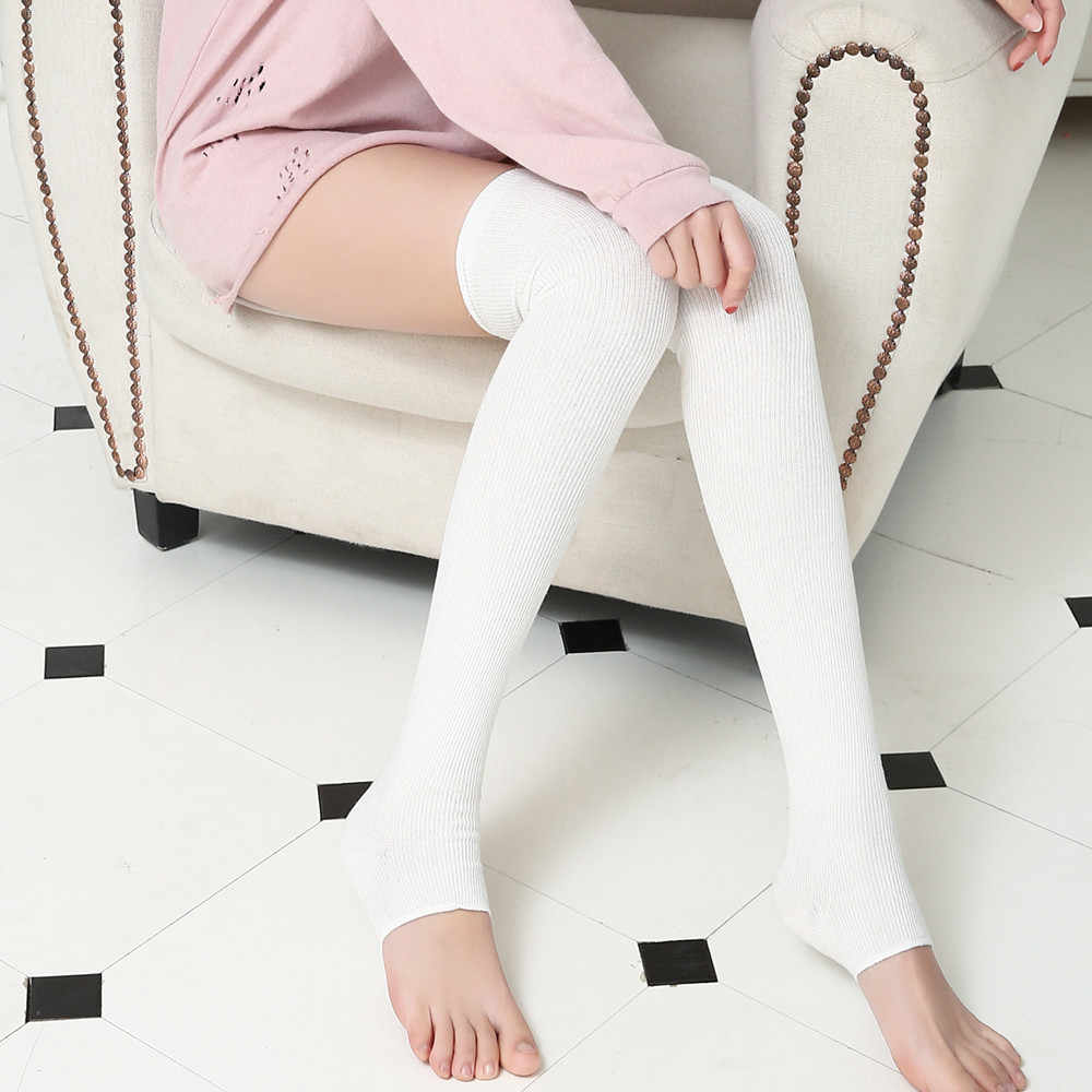 Women Socks Stockings Warm Knit Long Boot Socks Slim Thigh High Over The Knee Socks Long Cotton Stockings medias de mujer F1024