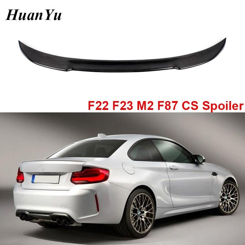 M2 f87 f22 f23 fibra de carbono tronco traseiro spoiler para bmw série 2 ducktail lábio boot asas m4 estilo 220i m235i 228i 2014 +