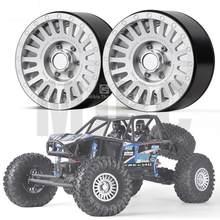 Una coppia di 2.2 pollici ruota di metallo ruota per 1/10 Rc veicolo cingolato Trx4 Mustang Rc4wd D90 D110 assiale Scx10 90046 jimny Cfx Vs4