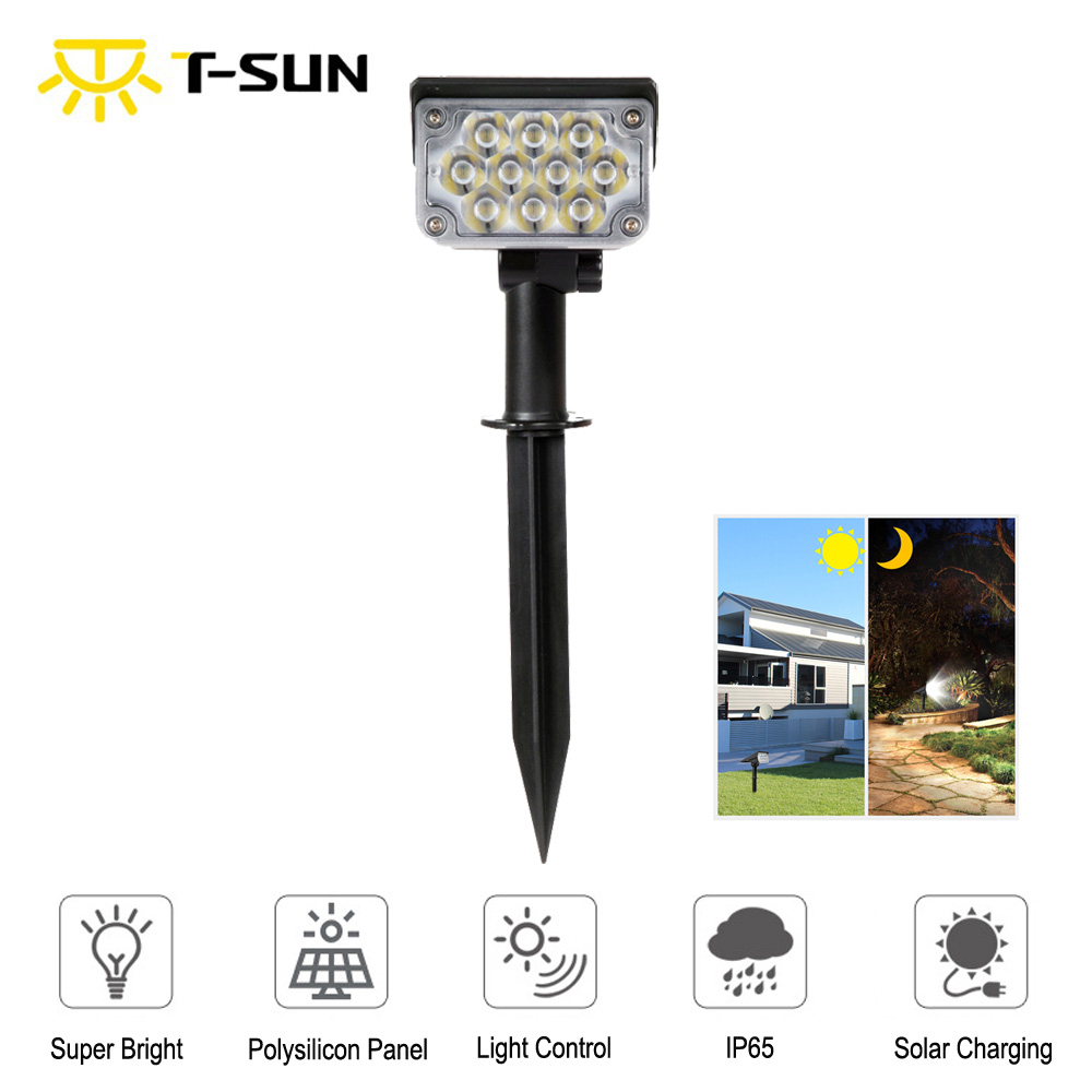 20LED Solar Light Outdoor Solar Lamps IP65 Waterproof Solar Powered Sunlight For Garden Decoration Cold White Solar Spotlights