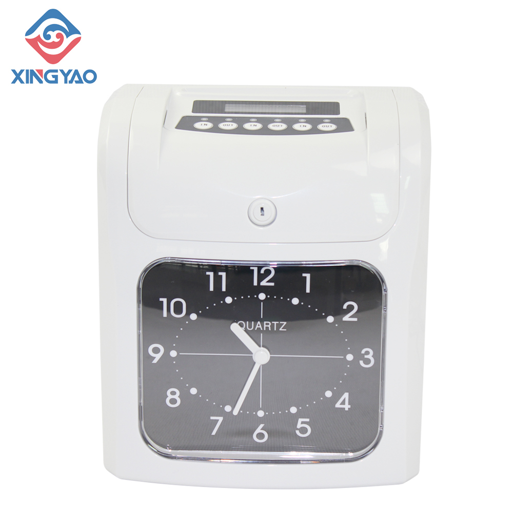 Check In Punch Card Clock Electronic Time Recorder W-960 Attendance Digital Time Recording Machine With Rechargeable Battery