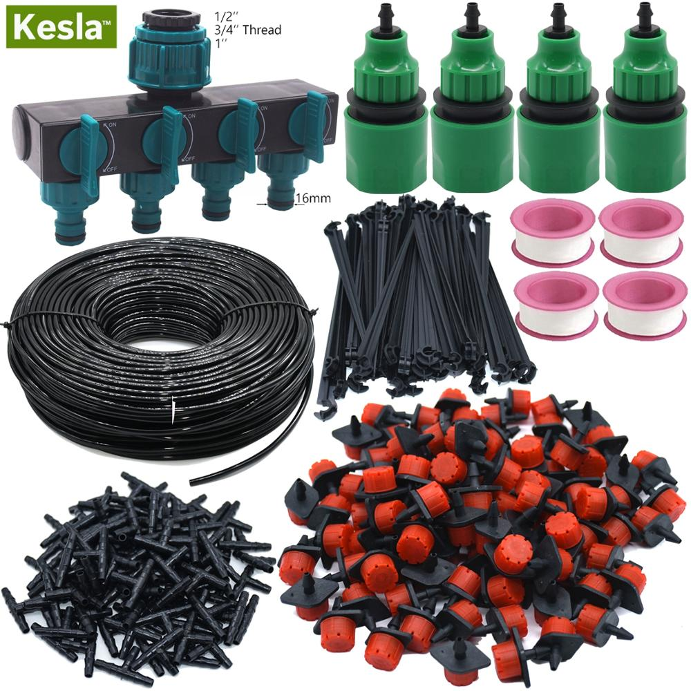 KESLA 5M-60M Tropf Bewässerung Bewässerung Kits Garten Werkzeug Abgeschaltet 4 Möglichkeiten Tap Stecker 4/7mm Schlauch Splitter Tropf T Gewächshaus