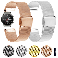 Milanese Roestvrij Stalen Band Voor Huawei Horloge Gt 2 Pro Gt2pro Band Armband Voor Honor Gs Magic Es 20Mm 22Mm Pols Horlogebanden