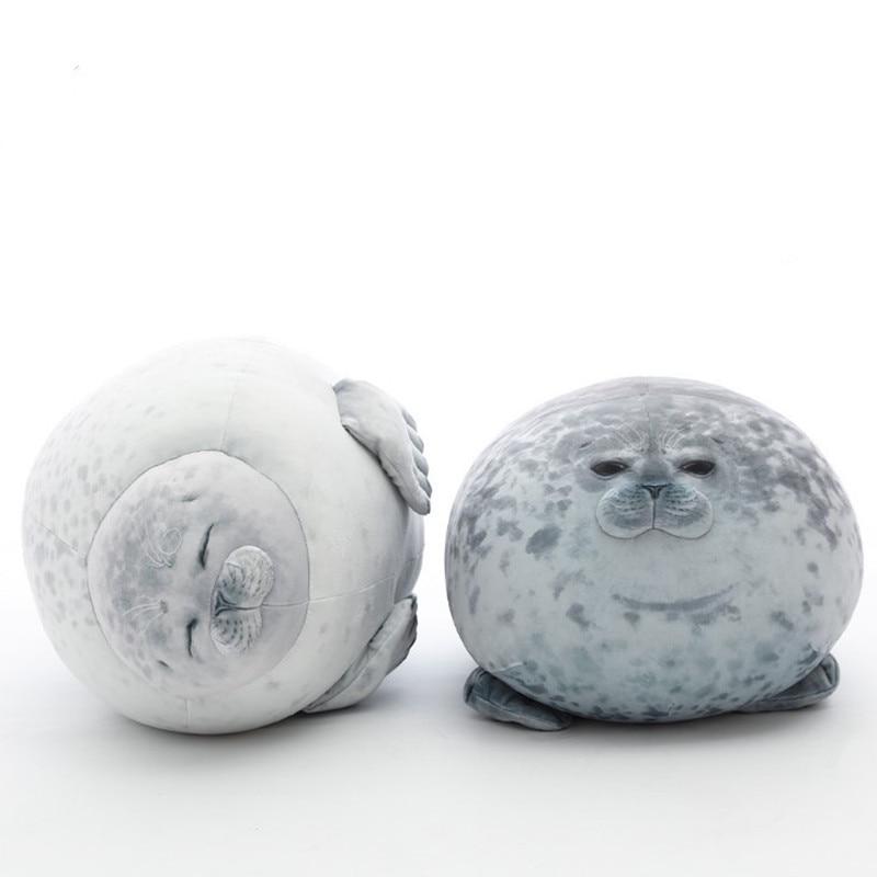 Cute Seal Stuffed Pillow Plush Sea Lion Plush Toys 3D Novelty Throw Pillows Baby Sleeping Pillow Kids Girls Gifts