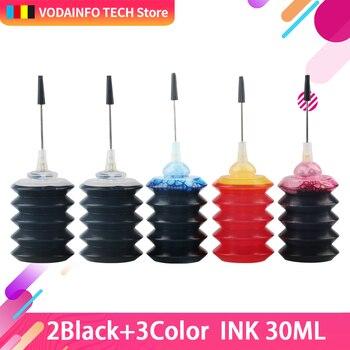 QSYRAINBOW  Black Printer Ink capacity 30ml Refill Ink Kit For Inkjet Printer For HP for Canon for Brother Inkjet Printer hp 302 hp envy 120 e all in one inkjet printer copier sc