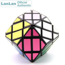 LanLan 4x4 Rhombohedral Dodecahedron Diamond Magic Cube Megaminxeds Speed Puzzle Antistress Fidget Brain Teasers Educational Toy
