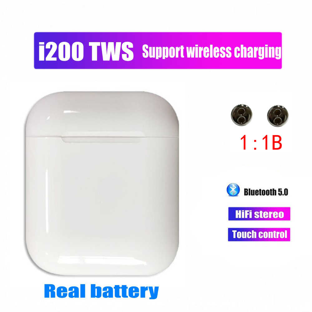 i200 TWS Replica 1:1 Mini Wireless Bluetooth Stereo Earphone 5D Super Bass i200 tws Earbuds not W1 H1 Chip pk i20 i60 i80 I90