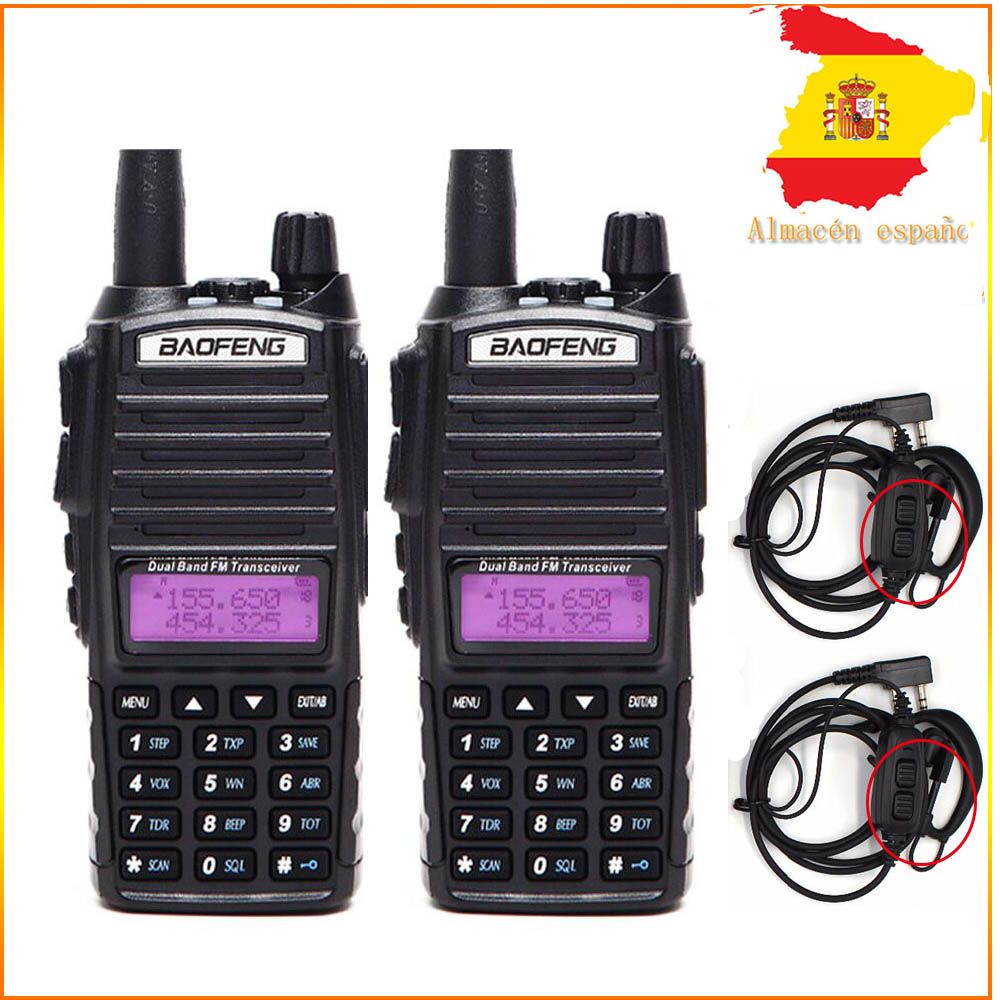 2PCS Baofeng UV-82 Walkie Talkie Dual Band Dual PTT VHF UHF Two Way Radio Tri-Power UV 82 CB Radio Portable UV82 Transceiver