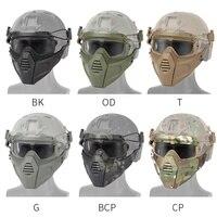 Cycling Riding Airsoft Paintball Tactical Hunting Mask Combat Half Mask Military War Game Mask Protector Black Tan Green Cycling Face Mask     -