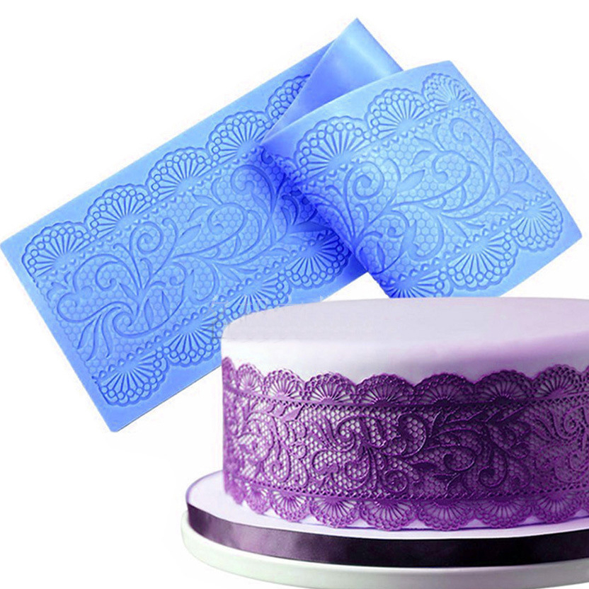 Lace Silicone Mats Surafcraft Texture Lace Mold Flower For Fondant Embosser Accessories Sugar Paste Cake Decorating Tool