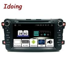 "Idoing "" 2Din радио Android 9,0 для Mazda CX9 2007- автомобильная мультимедийная система dvd-плеер gps навигация 4G+ 64G TDA7850 PX5 ips"