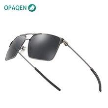 OPAQEN Rectangle Sunglasses Polarized Lenses Fashion Aluminu
