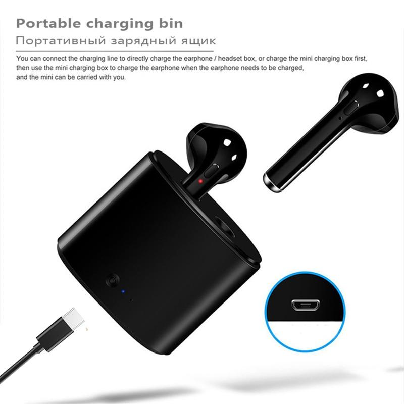 Беспроводные наушники i7s tws, Bluetooth 5,0, спортивные наушники-вкладыши, гарнитура с микрофоном и зарядным боксом, наушники для всех смартфонов 2