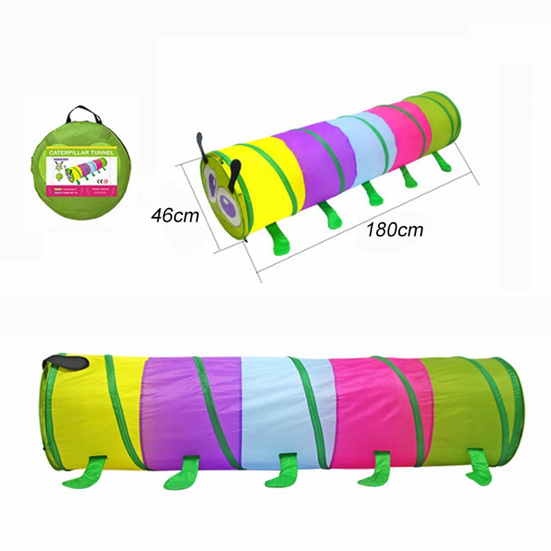 CYSINCOS Three Colors Toy Crawling Tunnel Children  Baby Play Crawling Games Access To The Tent Outdoor Indoor Activity