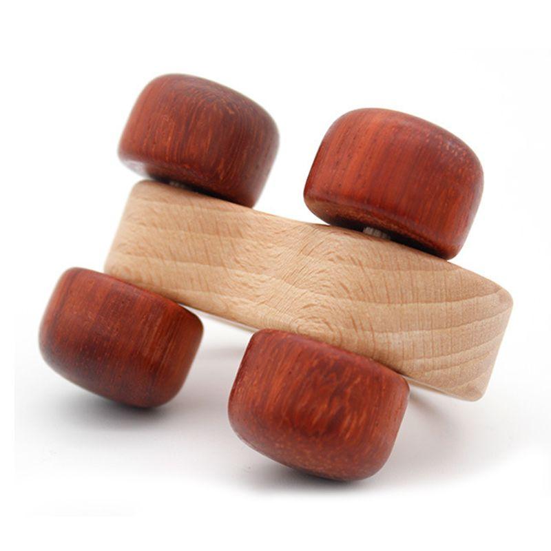 3 stücke Push scroll Holz Baby Pferd und Hund Spielzeug Auto Set für Kleinkinder 1 jahr alt - 5