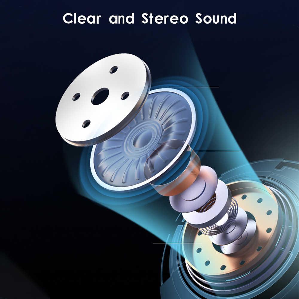 Femperna Bluetooth Tai Nghe Bluetooth 5.0 Tai Nghe Chụp Tai Không Dây Sạc Hộp Tai Nghe 3D Stereo Với Microphone Kép