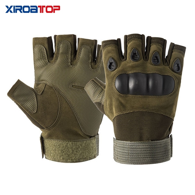 Hot Sale 2020 Men Women Outdoor Sport Tactical Gloves Airsoft  Half Finger Gloves Military Combat Gloves Shooting Hunting Gloves 6