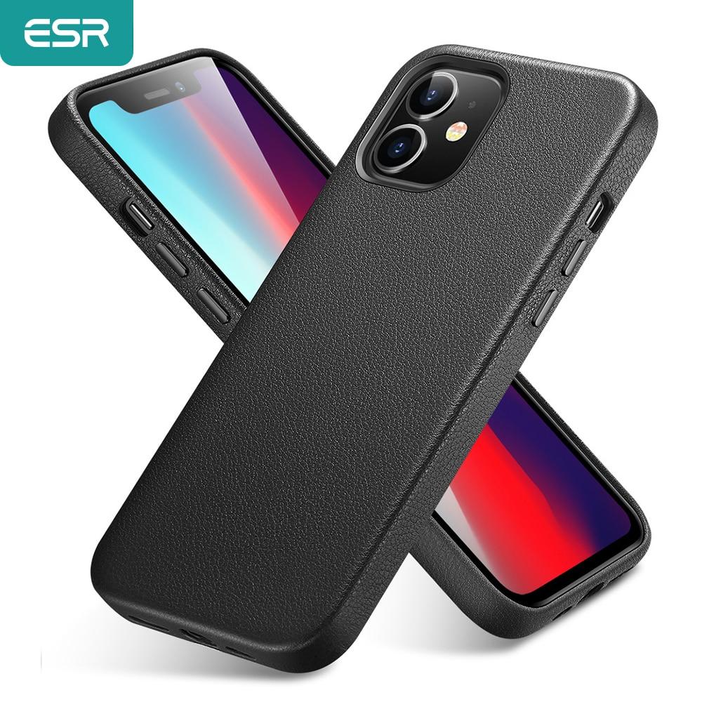 Esr Luxe Case Voor Iphone 12 Lederen Back Cover Voor Iphone 12 Mini 12 Pro Max Echt Lederen Business Case voor Iphone 12 1