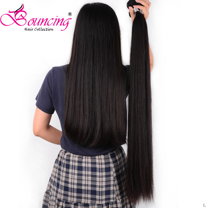 Bouncing Hair Weft 26 28 30 32 Inches Straight 3 Bundles 8-32 Inch Hair Weft Brazilian Remy Hair Extension For Women Hair Weave