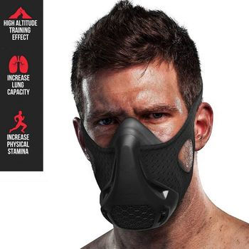 Endurance Mask 24 Breathing Levels Workout Hypoxic Mask Fitness Sports Mask Workout Cardio Mask