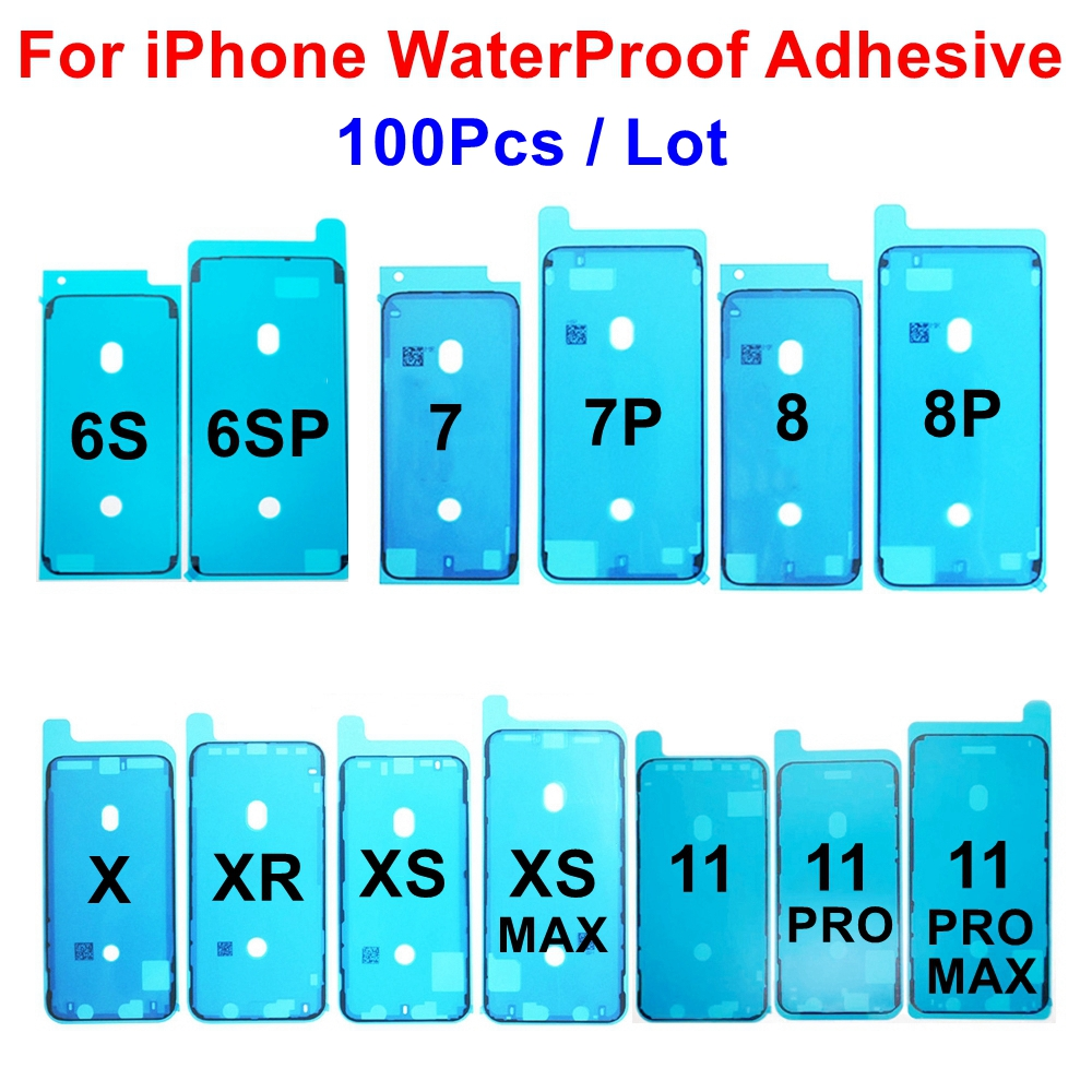 100pcs Waterproof Adhesive Sticker for iPhone 6S 7 7G 7P 8 8P Plus X XR XS 11 Pro Max LCD Display Screen Frame Bezel Seal Tape