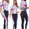 2020 pro equipe triathlon terno rosa das mulheres de manga curta calças compridas ciclismo jérsei skinsuit macacão maillot ciclismo ropa ciclismo 9
