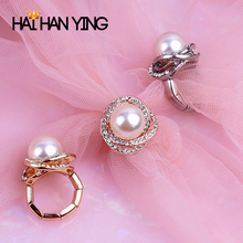 newbark high quality big cz half eternity rings rose gold and silver color prongs crown wedding jewelry rings for women Fashion Adjustable Rings Rose Flower Pearl Rings Womens Gold Silver Rose wedding Rings Party Jewelry women accessories big rings