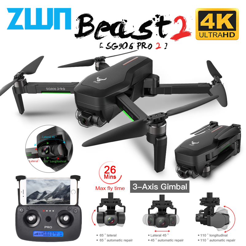 ZLRC SG906 / SG906 Pro 2 GPS Drone with Wifi FPV 4K Camera Three axis anti shake Gimbal Brushless Professional Quadcopter Dron|RC Quadcopter| - AliExpress