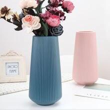Простая Скандинавская фарфоровая пластиковая ваза для дома НОВОГОДНИЕ