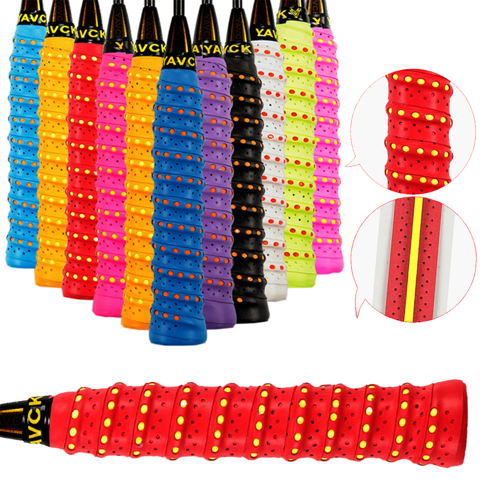 10pcs Tennis Squash Racquet Band Grip Tape Fishing rod Sweatband Grip Sweat h3