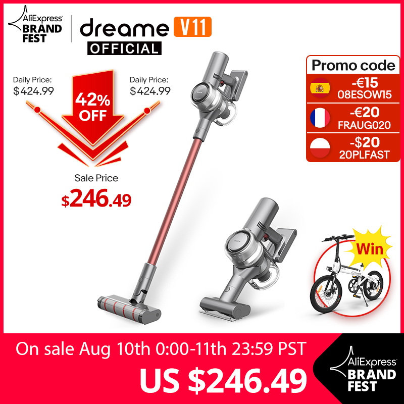 Dreame V11 Handheld Wireless Vacuum Cleaner OLED Display Portable Cordless 25kPa All in one Dust Collector floor Carpet Cleaner|Vacuum Cleaners| - AliExpress