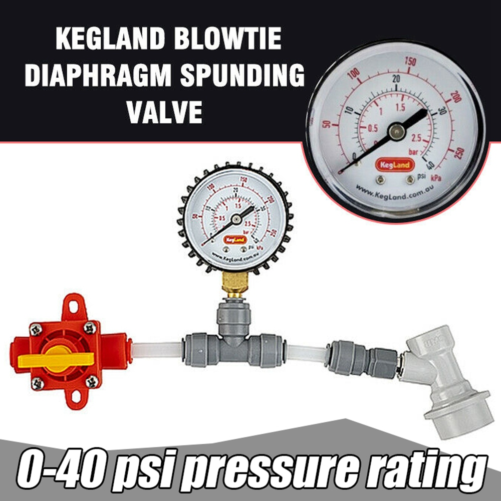 Blowtie Diaphragm Spunding Valve Set Adjustable Pressure Relief Value Gauge Ball For Food Beer Wine Brewing Equipment Tools