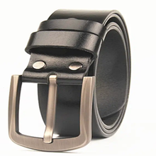 The first layer of leather belt leather pin buckle fat man lengthening belt men's pants belt width 3.8 cm
