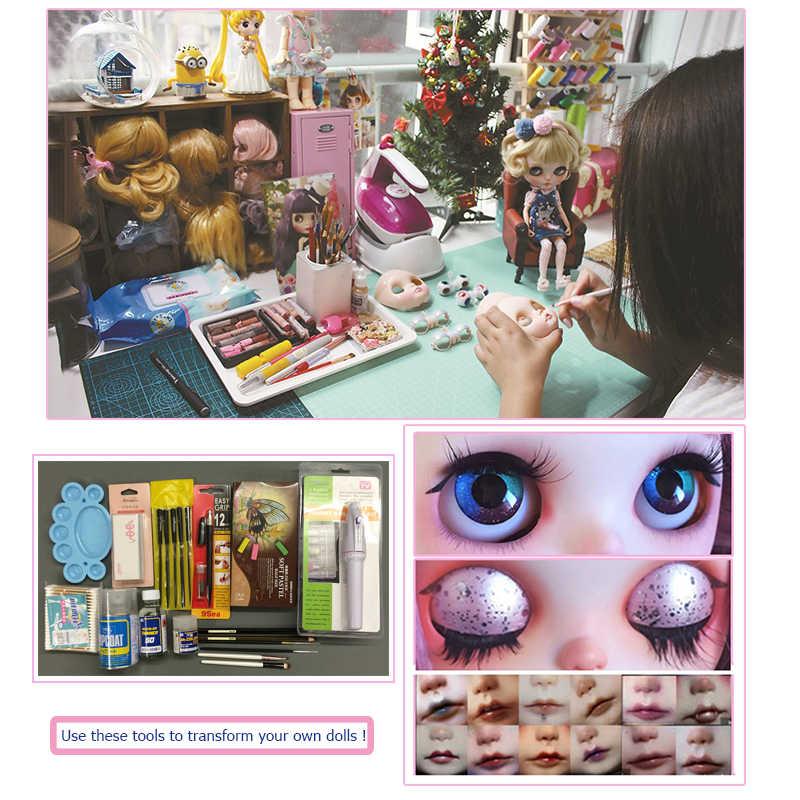 NEO NBL Blyth ตุ๊กตาที่กำหนดเอง SHINY Face,1/6 OB24 BJD Ball Jointed ตุ๊กตา CUSTOM Blyth ตุ๊กตาสำหรับสาว, ของขวัญคอลเลกชัน